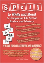 Spell to Write and Read - A Companion CD Set for Review and Mastery