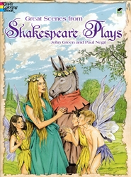 Great Scenes from Shakespeare's Plays - Coloring Book