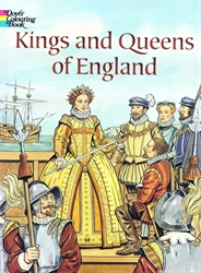 Kings and Queens of England - Coloring Book
