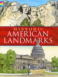 Historic American Landmarks - Coloring Book