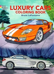 Luxury Cars - Coloring Book