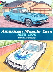American Muscle Cars - Coloring Book