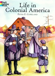 Life in Colonial America - Coloring Book