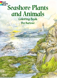 Seashore Plants and Animals - Coloring Book