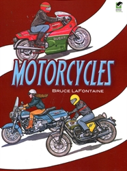 Motorcycles - Coloring Book