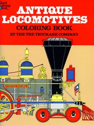 Antique Locomotives - Coloring Book