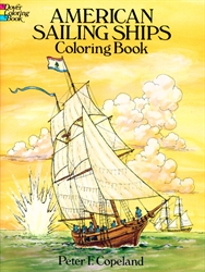 American Sailing Ships - Coloring Book