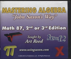 Mastering Algebra John Saxon's Way: Math 87, 2nd or 3rd Edition DVDs