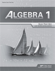 Algebra 1 - Test/Quiz Key (with solutions)