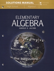Elementary Algebra - Solutions Manual