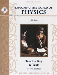 Exploring the World of Physics - Teacher Key & Tests