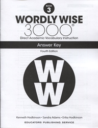 Wordly Wise 3000 Book 3 - Answer Key