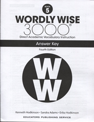 Wordly Wise 3000 Book 5 - Answer Key