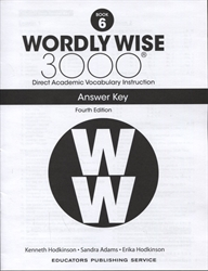 Wordly Wise 3000 Book 6 - Answer Key