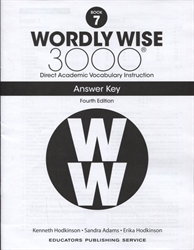 Wordly Wise 3000 Book 7 - Answer Key