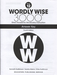 Wordly Wise 3000 Book 12 - Answer Key