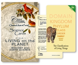 Classical Conversations Biology & Earth Science - Science Cards