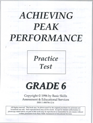 Achieving Peak Performance Grade 6 - Practice Test