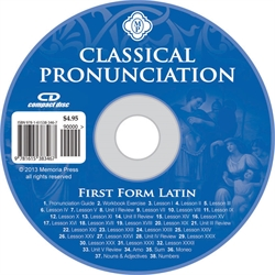 First Form Latin - Pronunciation CD (Classical)