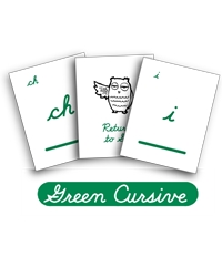 LOE Phonogram Game Cards - Green Cursive