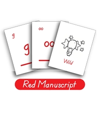 LOE Phonogram Game Cards - Red Manuscript