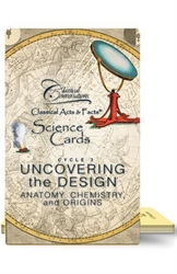 Classical Acts and Facts Science Cards: Anatomy, Chemistry & Origins