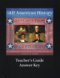 All American History Volume I - Teacher's Guide/Answer Key