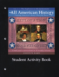 All American History Volume I - Student Activity Book Digital Download