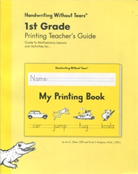 Handwriting Without Tears 1st Grade Printing - Teacher's Guide