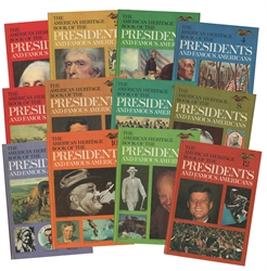 American Heritage Books of the Presidents and Famous Americans - 12 Book Set