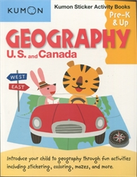 Kumon Geography: US & Canada Sticker Activity Book