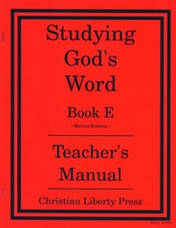 Studying God's Word E - Answer Key