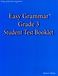 Easy Grammar Grade 3 - Student Test Booklet