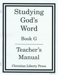 Studying God's Word G - Answer Key