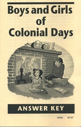 Boys and Girls of Colonial Days - Answer Key