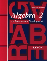 Saxon Algebra 2 - Solutions Manual