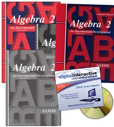 Saxon Algebra 2 - Home School Bundle with DIVE CD