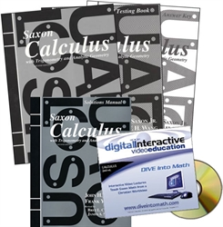Saxon Calculus - Home School Bundle with DIVE CD