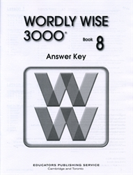 Wordly Wise 3000 Book 8 - Answer Key (old)