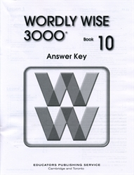 Wordly Wise 3000 Book 10 - Answer Key (old)