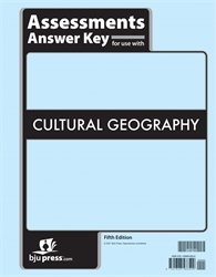 Cultural Geography - Tests Answer Key (July 2021)