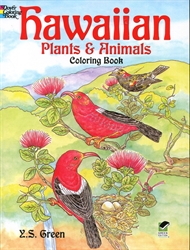 Hawaiian Plants and Animals - Coloring Book