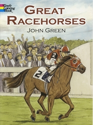 Great Racehorses - Coloring Book