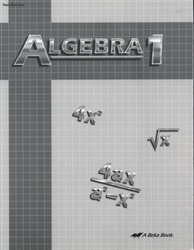 Algebra 1 - Test/Quiz Key (with solutions) (old)