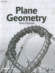 Plane Geometry - Test/Quiz Book