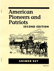American Pioneers and Patriots - Answer Key