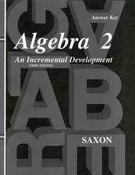 Saxon Algebra 2 - Answer Key only