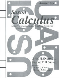 Saxon Calculus - Answer Key only