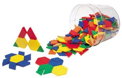 Plastic Pattern Blocks Mini-Set